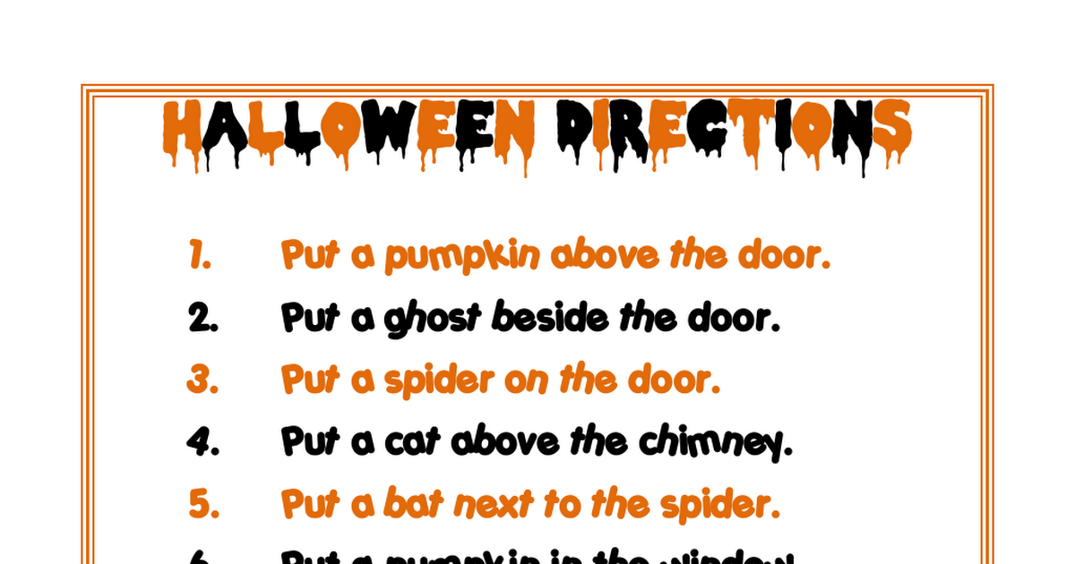 HalloweenSpatialDirections.pdf (With images) Speech