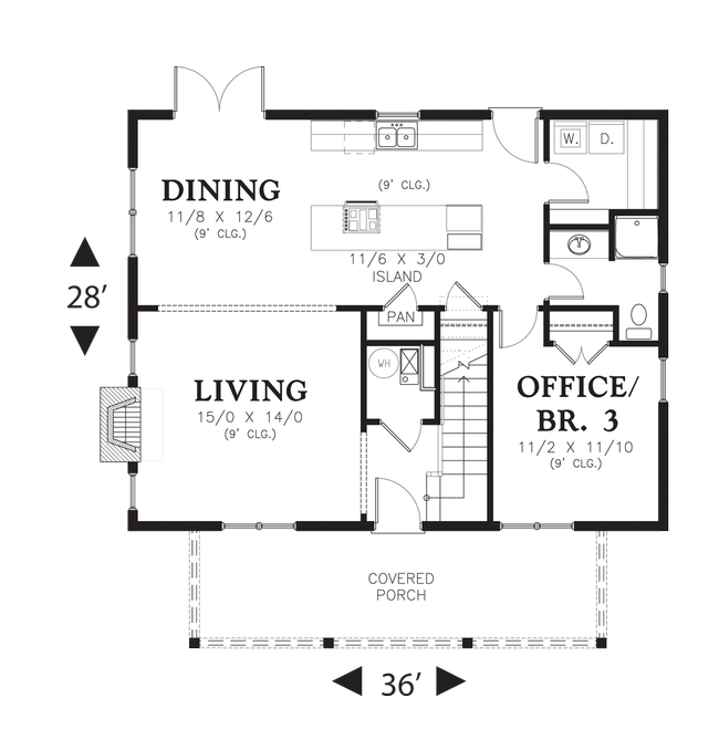 House Plan 21119a The Mona Houseplans Co Cabin Floor Plans House Plans How To Plan
