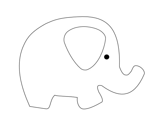 Шаблон слон для открытки