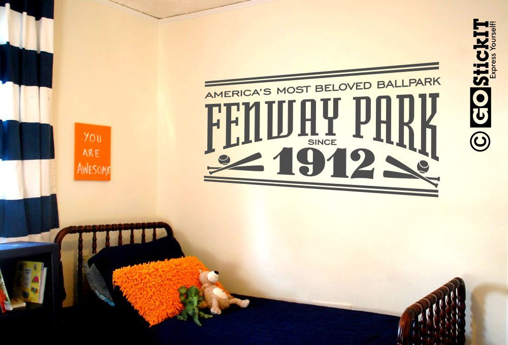 Fenway Park Stadium Sign Man Cave Wall Art Decal | Fenway ...