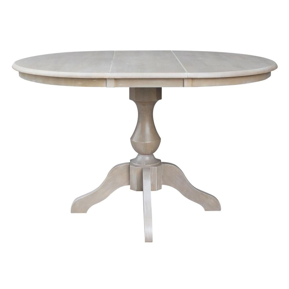 International Concepts 36 In X 48 In X 30 In H Weathered Taupe Gray Extension Sophia Pedestal Table K09 36rxt 11b The Home Depot Pedestal Table Dining Table Table
