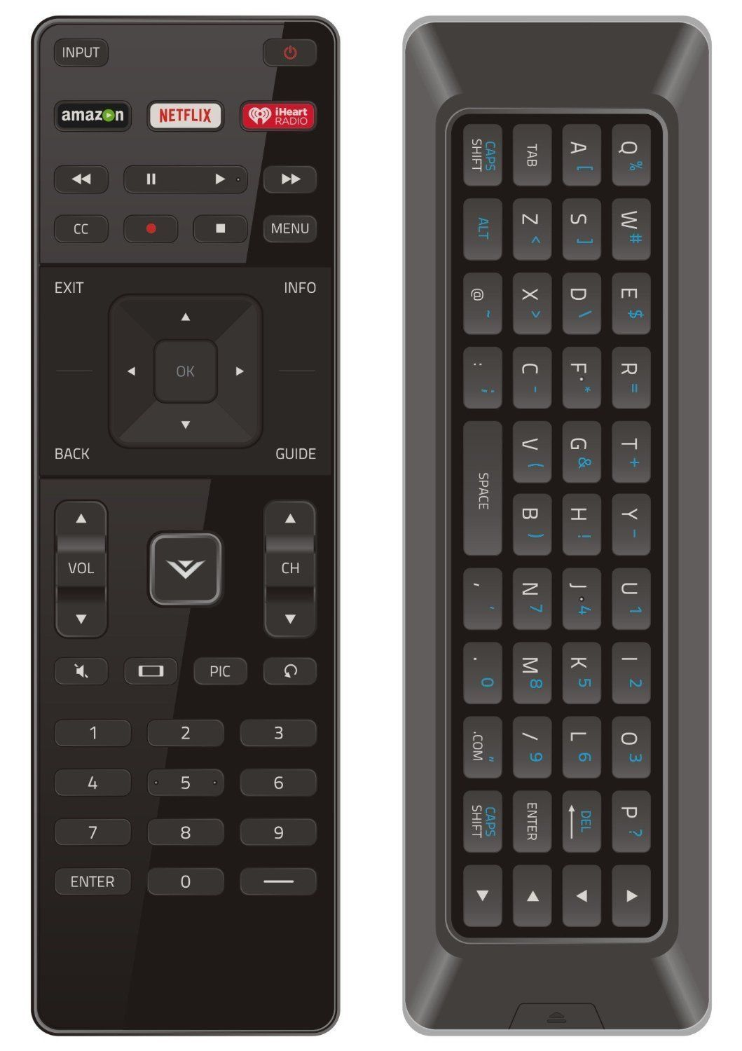 NEW Qwerty Dual Side Remote XRT500 with Backlight fit for
