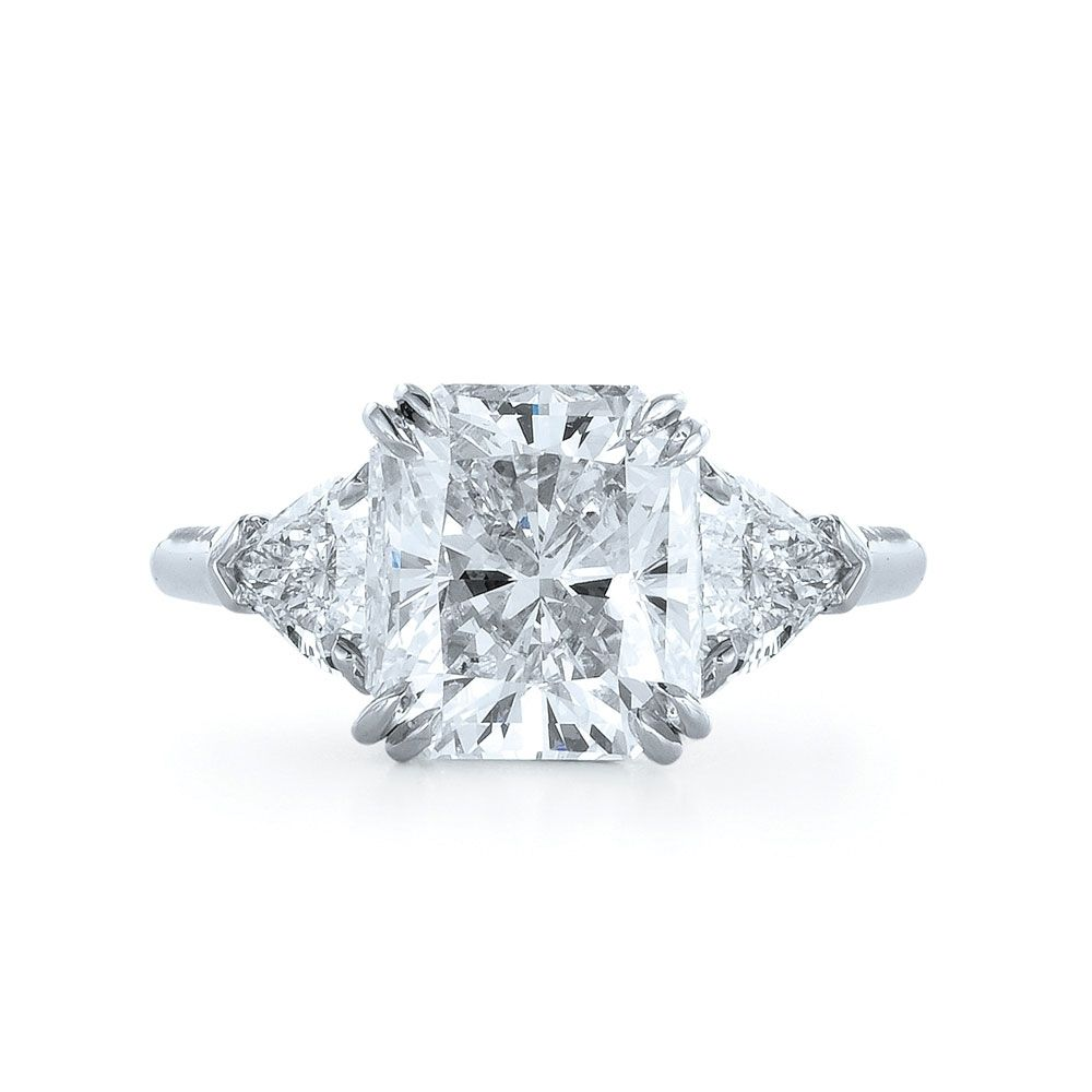 Square radiant cut diamond engagement rings ring pinterest