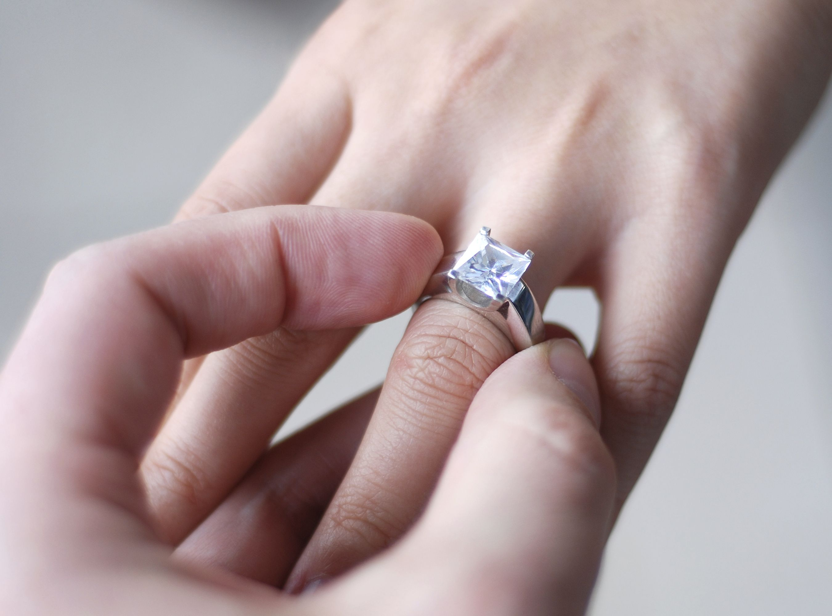 Big Engagement Rings On Fingers 25