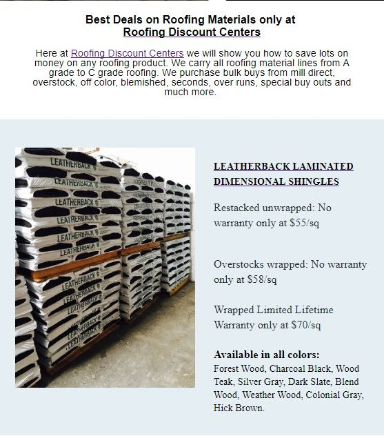 Leatherback Laminated Dimensional Shingles Restacked Unwrapped No Warranty 55sq Overstocks Wrapped No Warranty Shingling Cool Roof Dimensional Shingles