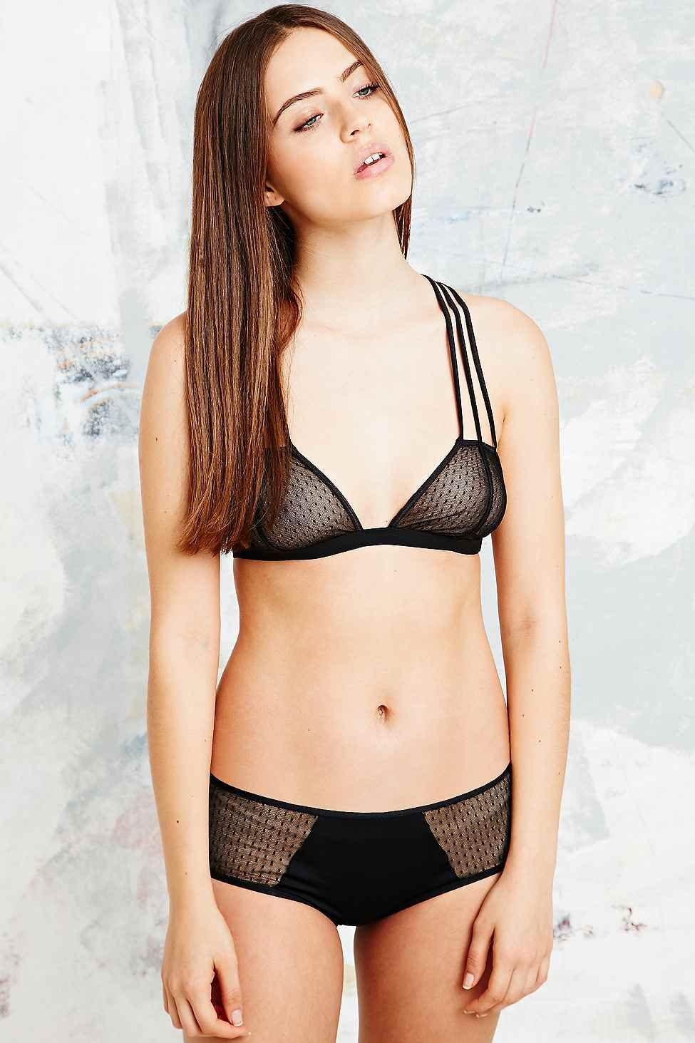 Cosabella Williamsburg Mesh Soft Bra in Black - Urban Outfitters