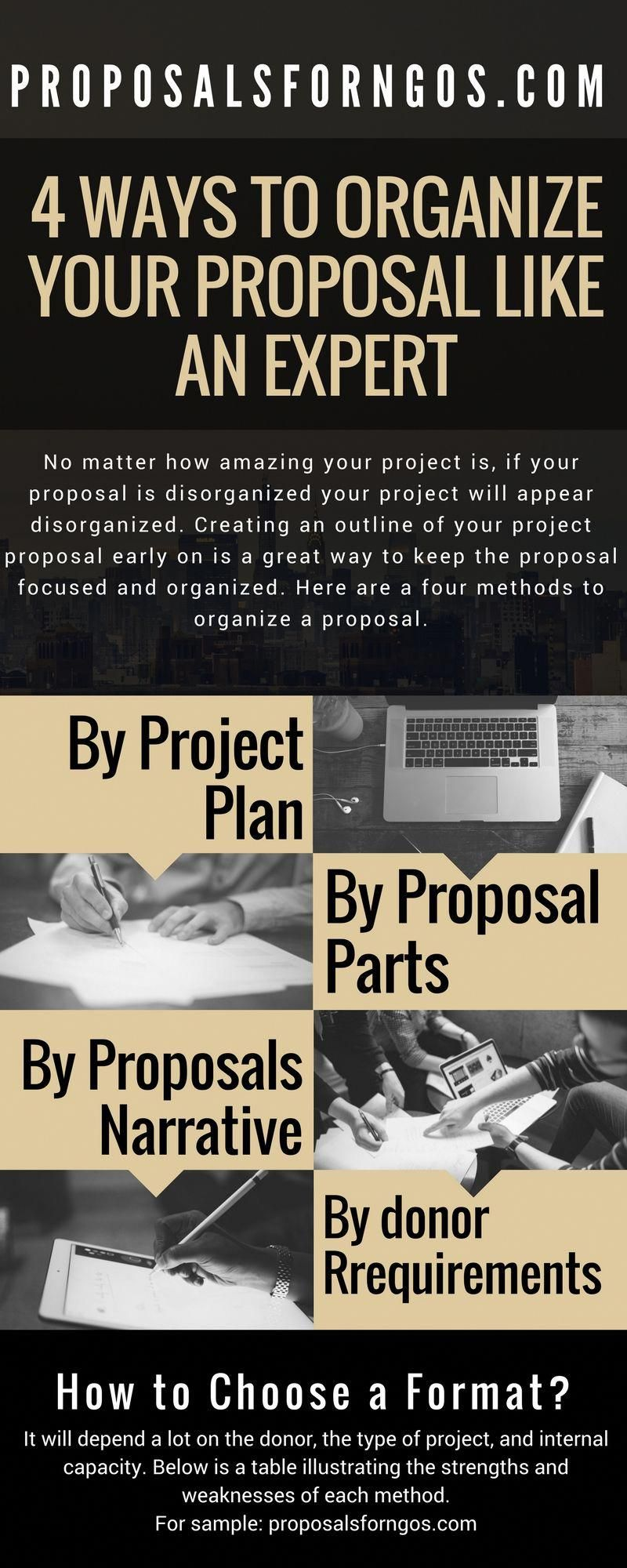 4 ways to organize your proposal like an expert and to impress
