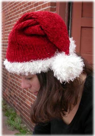 Santa Hat - Free pattern to knit