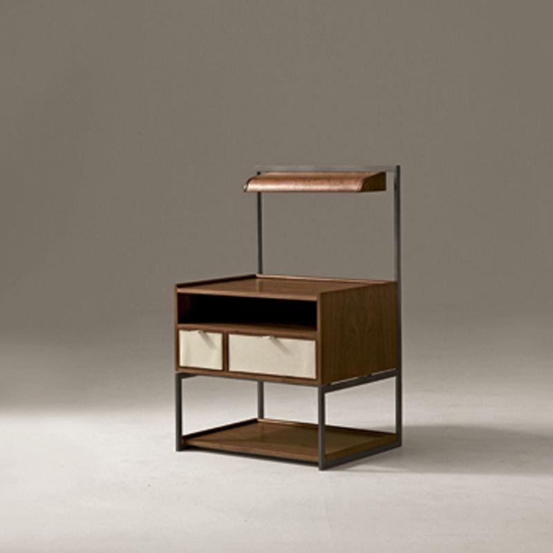 Moderner Nachttisch  Free Cool Moderne Nachttische Nachttisch Metall Weiss Holz Buche Eiche