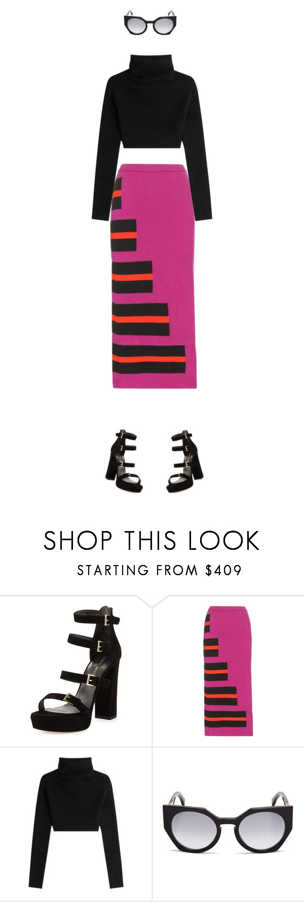 """""""bold lines"""" by c-lou ❤ liked on Polyvore featuring Stuart Weitzman, Fendi, Valentino and december2016"""