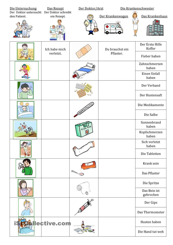 Beim Arzt | Learn german, German language and Kindergarten