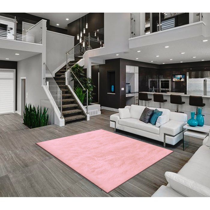Veals Shag Pink Area Rug In 2019