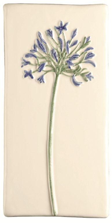 Decorative Tiles Uk Cool Agapanthus Tile  These Beautiful And Delicate Decorative Raised Design Ideas