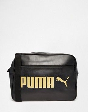a0cc2b215eb Puma Campus Messenger Bag In Black 7384301. Men's Accessories Sale ...