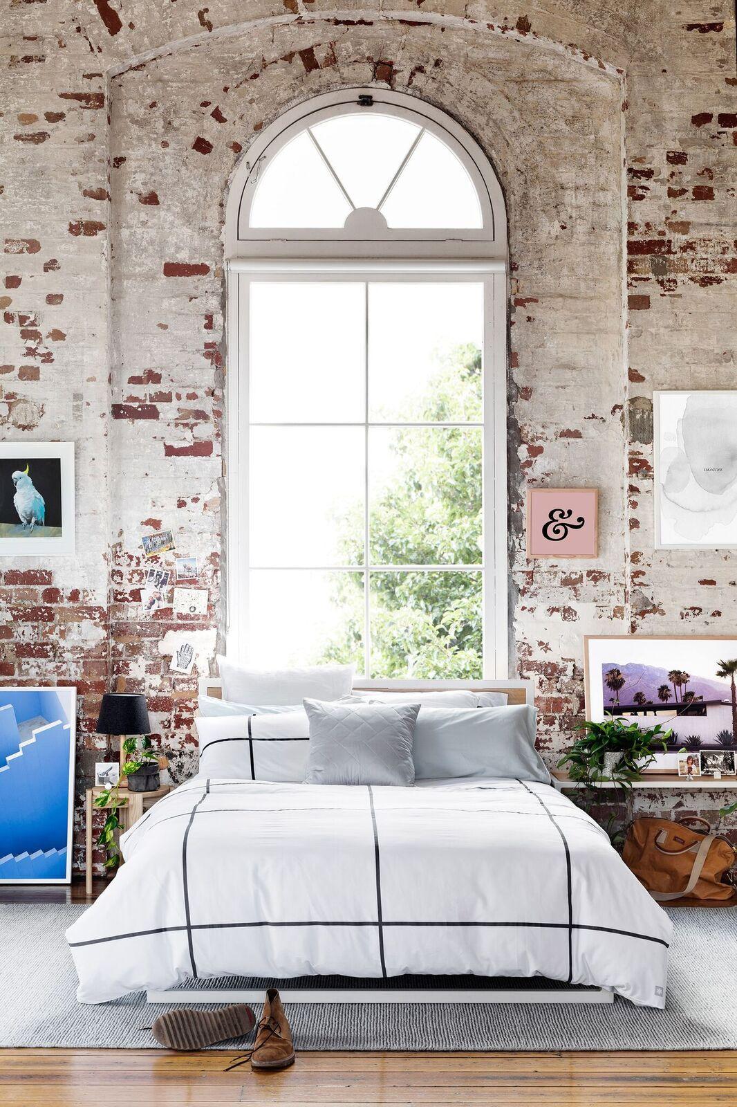 2018 interior decor trends brick wall bedroom wabi sabi loft industrial