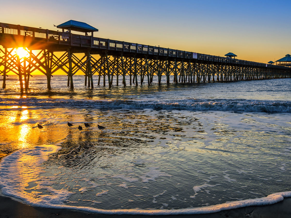 Folly Beach is a favorite for locals of South Carolina, who come here to enjoy a variety of water sp... - Shutterstock/anthony heflin