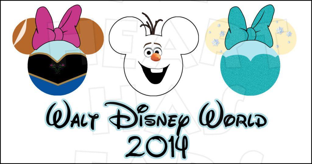 Frozen cast in Mickey Minnie ears head INSTANT DOWNLOAD digital clip art DIY iron on transfer My Heart Has Ears