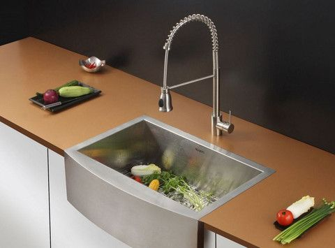"Ruvati 30"" Stainless Steel Farmhouse Sink Set RVC2428 - Hen & Tilly Farmhouse Sinks"