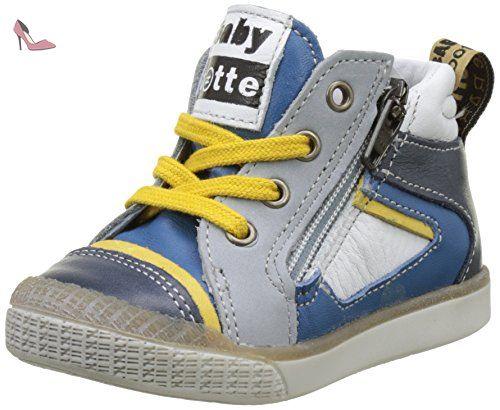 Babybotte Avatar, Baskets Hautes Garçon, Bleu (Bleu), 22 EU - Chaussures