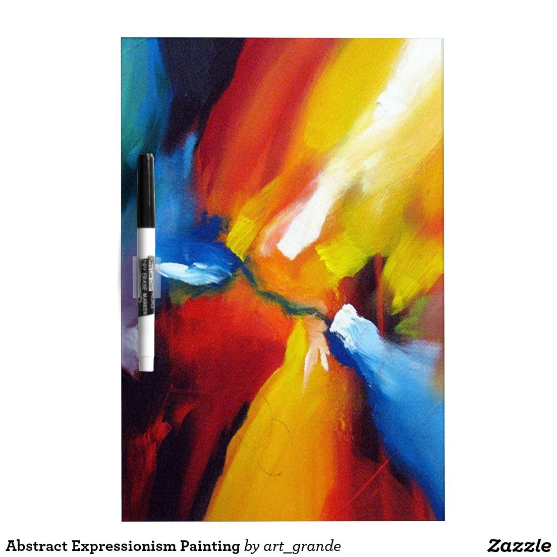 Abstract Expressionism Painting Dry-Erase Board