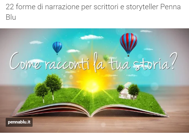 22 forme di narrazione per scrittori e storyteller