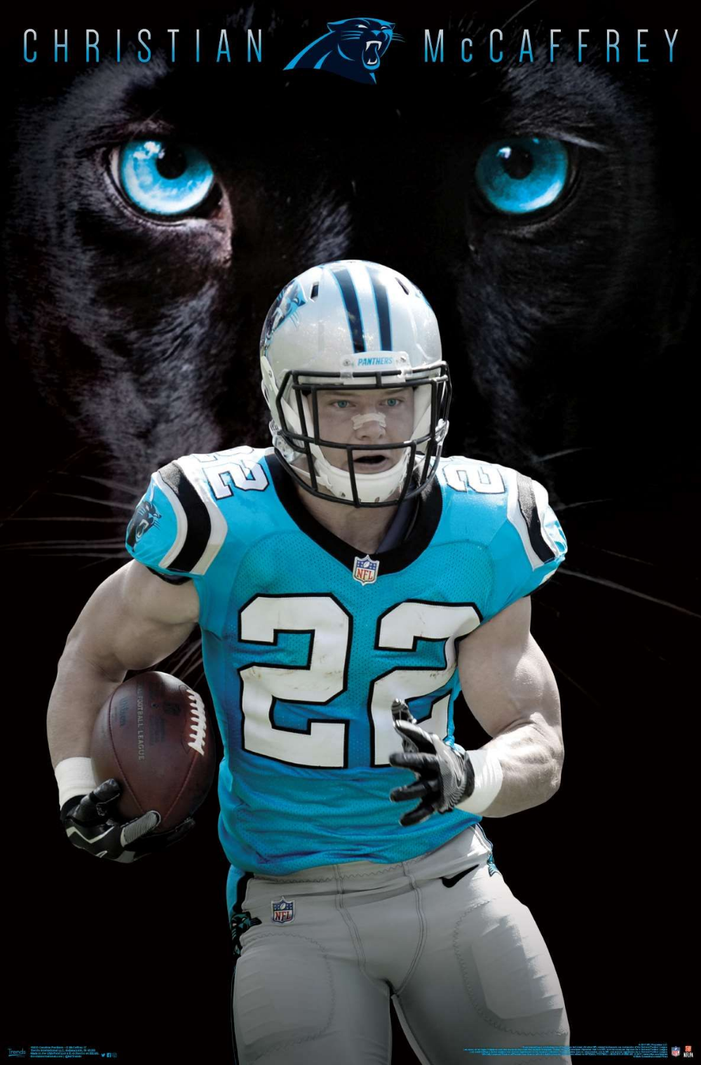 Nfl Carolina Panthers Christian Mccaffrey 17 Christian Mccaffrey Carolina Panthers Logo Nfl Carolina Panthers