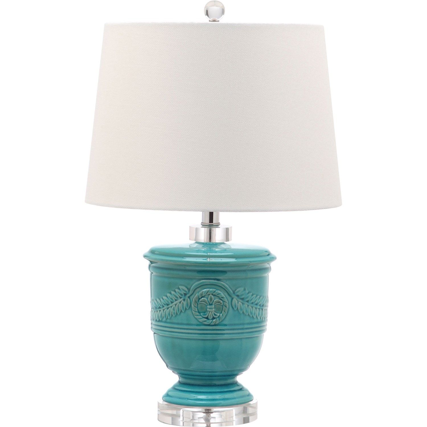 Safavieh LIT4252 | Table lamp sets, Table lamp, Turquoise