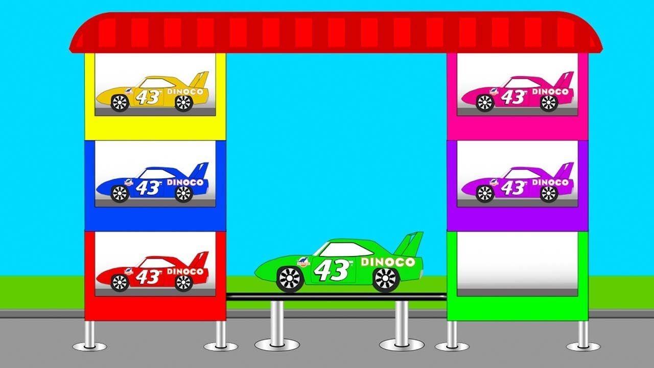 Coloring With Disney Pixar Cars The King Dinoco Kids Video Kids Nursery Rhymes Disney Pixar Cars Disney Pixar