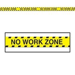 No Work Zone Party Tape - PartyCheap,  No Work Zone Party Tape - PartyCheap , You've entered the no work zone! Drop all work related stuff and step away from the desk. Seal off the retirement party central with No Work Zone Party Tape.... ,