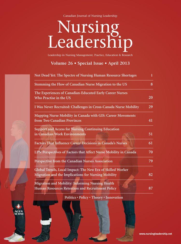 Nursing leadership volume 26 special issue 2013