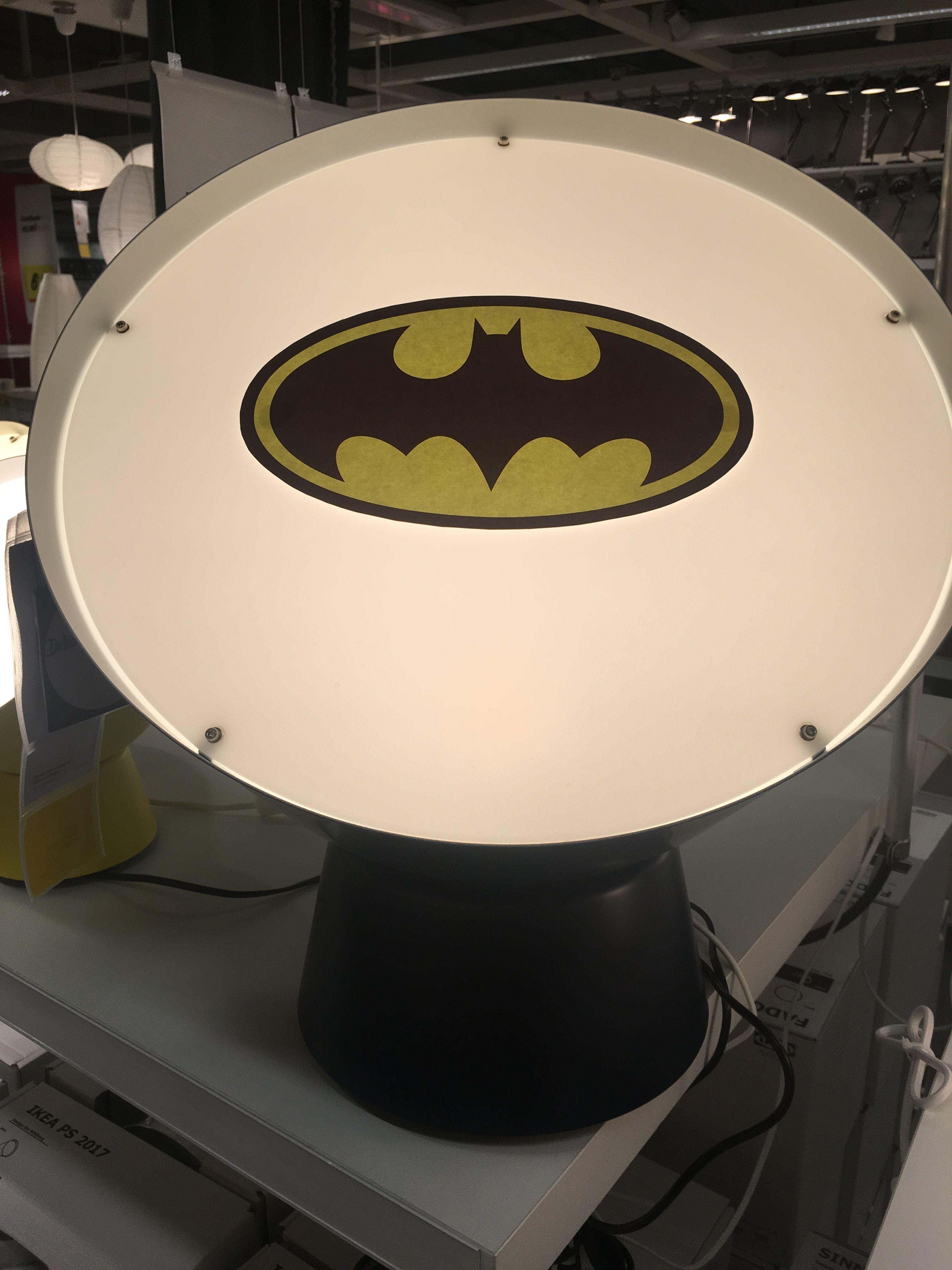 Die neue IKEA Lampe etwas aufgepimt...Batman forever ❤ | Stuff ...