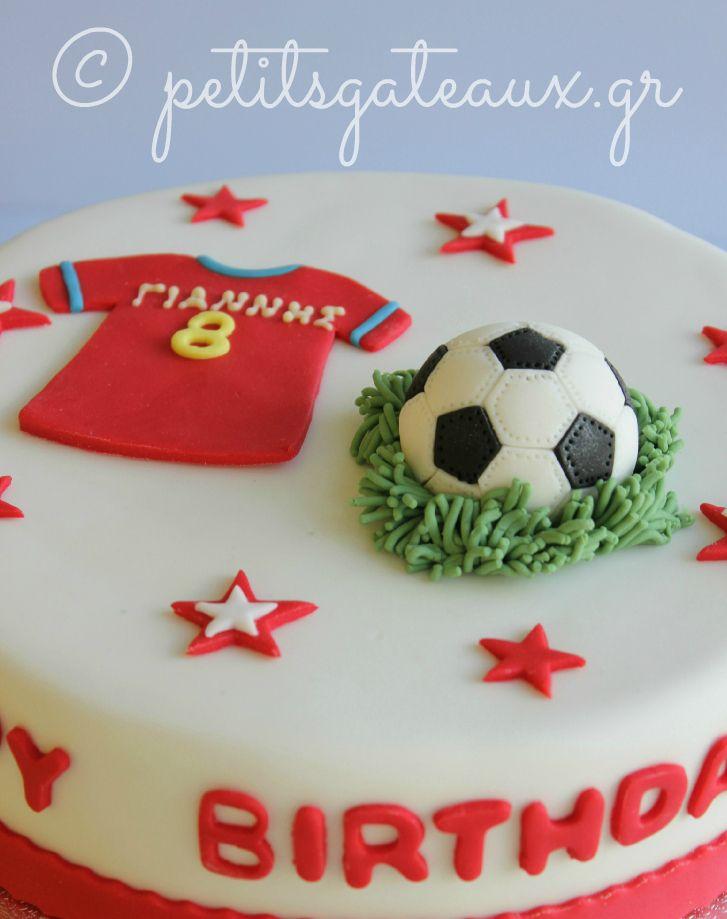 Football Themed Birthday Cake With Images Boy Birthday Cake