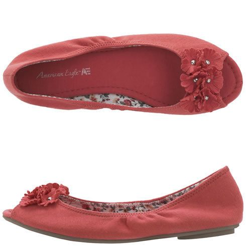 Payless Shoes for Women | ... American Eagle - Women's Daisy Peep Toe Flat - Payless Shoes on Wanelo