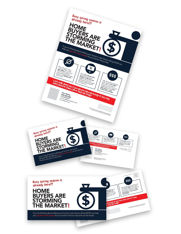 Real Estate Marketing Template Spring Market Is Here 20 In 2021 Real Estate Marketing Marketing Template Marketing Postcard