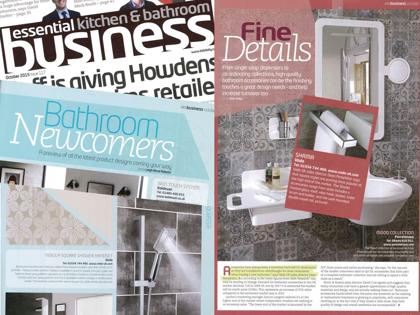 VADO\'s Nebula and Shama products looking fabulous in the October ...