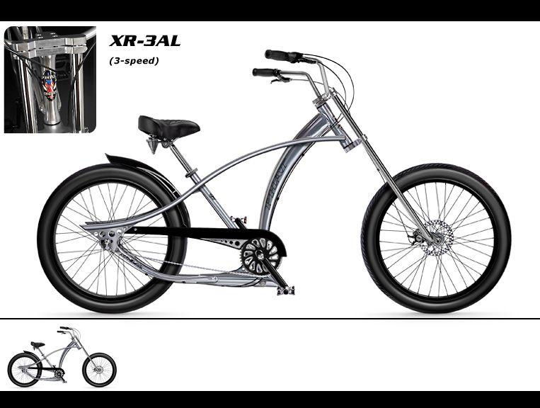 Phat Cycles Beach Cruisers Phattitude Bicycles Xr3 Al Bike