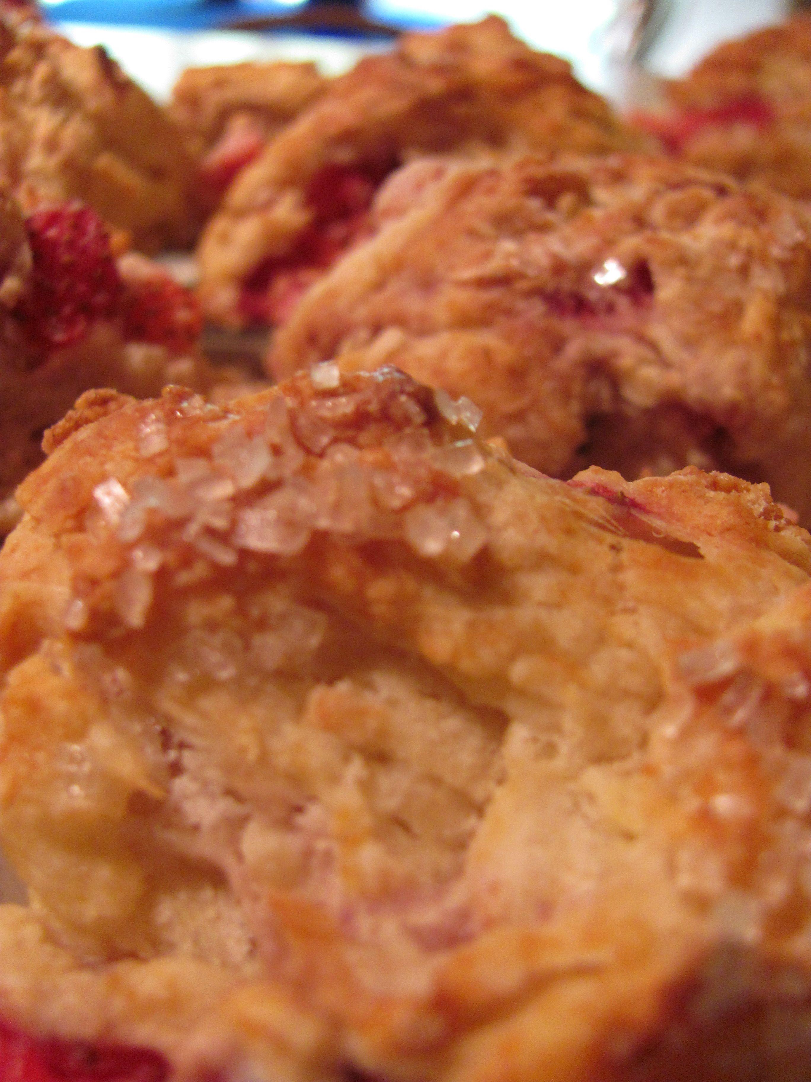 Fresh picked, Vermont strawberry scones