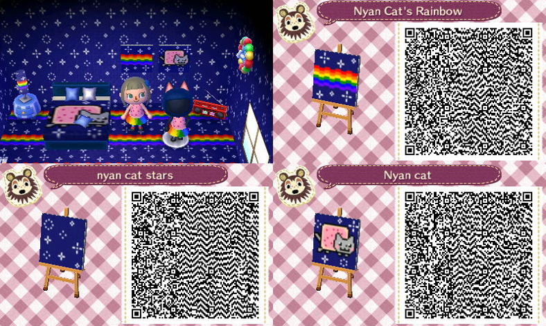 More Nyan Cat Pattern By Gumballqr Deviantart Com Animal