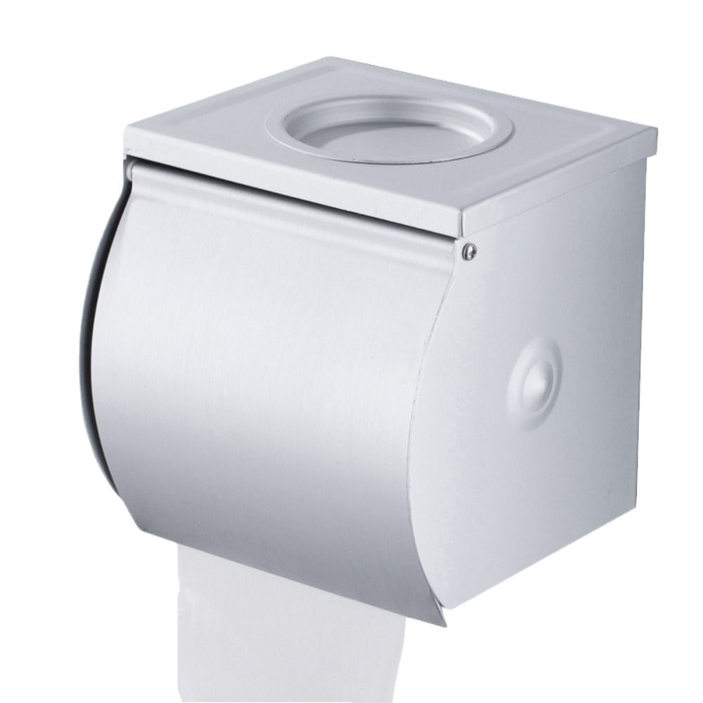 Stainless Steel Roll Tissue Box Toilet Paper Holder Wall Mounted