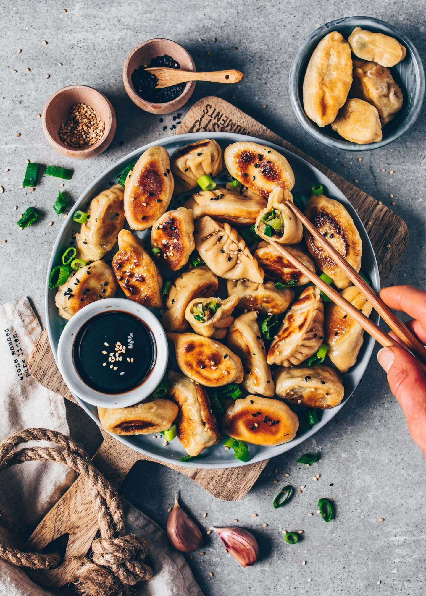 Vegan Dumplings (Gyoza with Vegetable Filling) - Bianca Zapatka | Recipes#bianca #dumplings #filling #gyoza #recipes #vegan #vegetable #zapatka