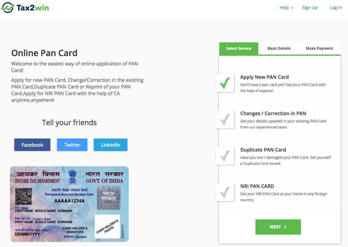 PAN Card - How to Apply for PAN Card Online   How to apply, Cards, Online  application