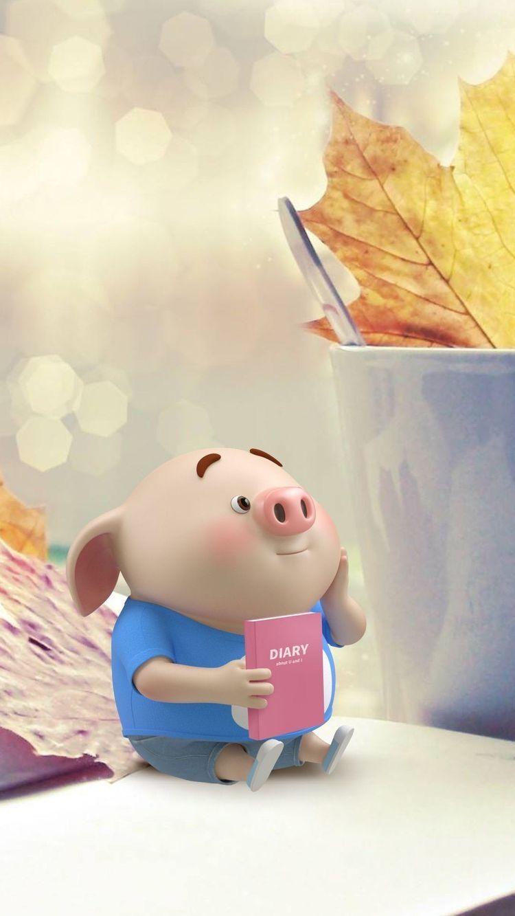 Fondo de pantalla para teléfono - fondo cerdito rosa little pig 🐷 gratis