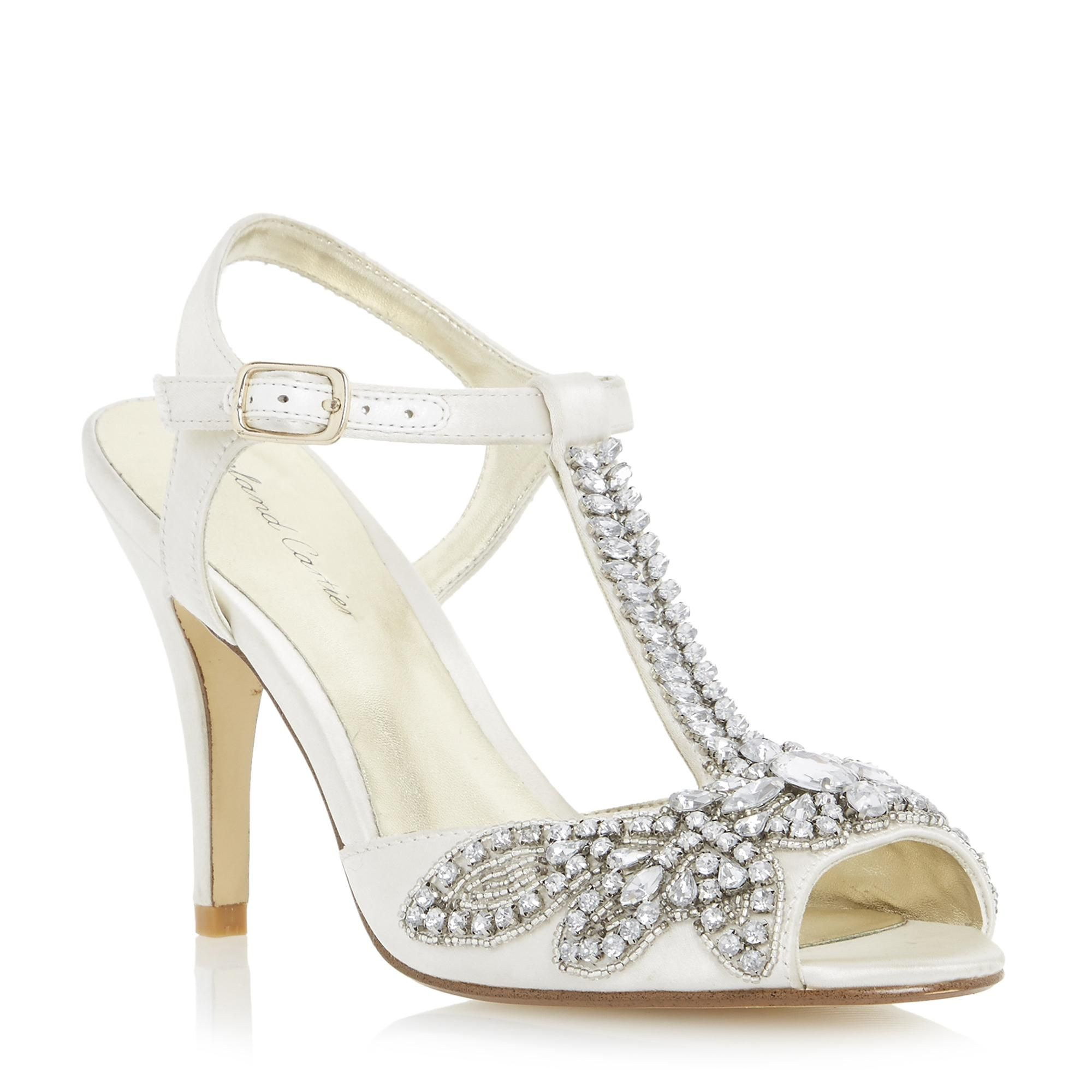 46094209d461e Roland Cartier Ladies MONTORI - Embellished Jewel Heeled Sandal - ivory