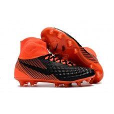 Botas De Futbol Nike Magista Obra II FG Negro Rojo ES  54d4eb8c01c14