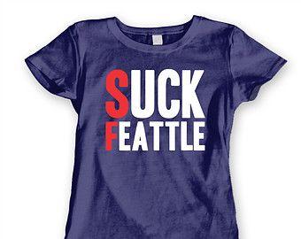 Suck Feattle funny Super Bowl New England Patriots humor tee top Women s Jr  Fit T-Shirt DT0857 d2320a1e1