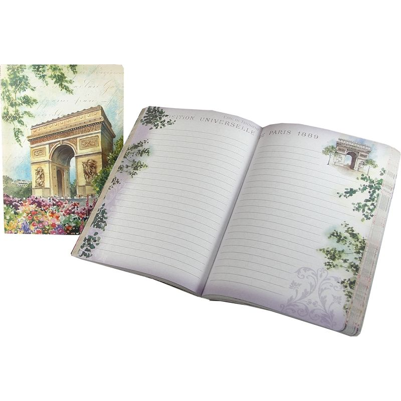Arc de Triomphe Painting Punch Studio Travel Soft Cover Journal