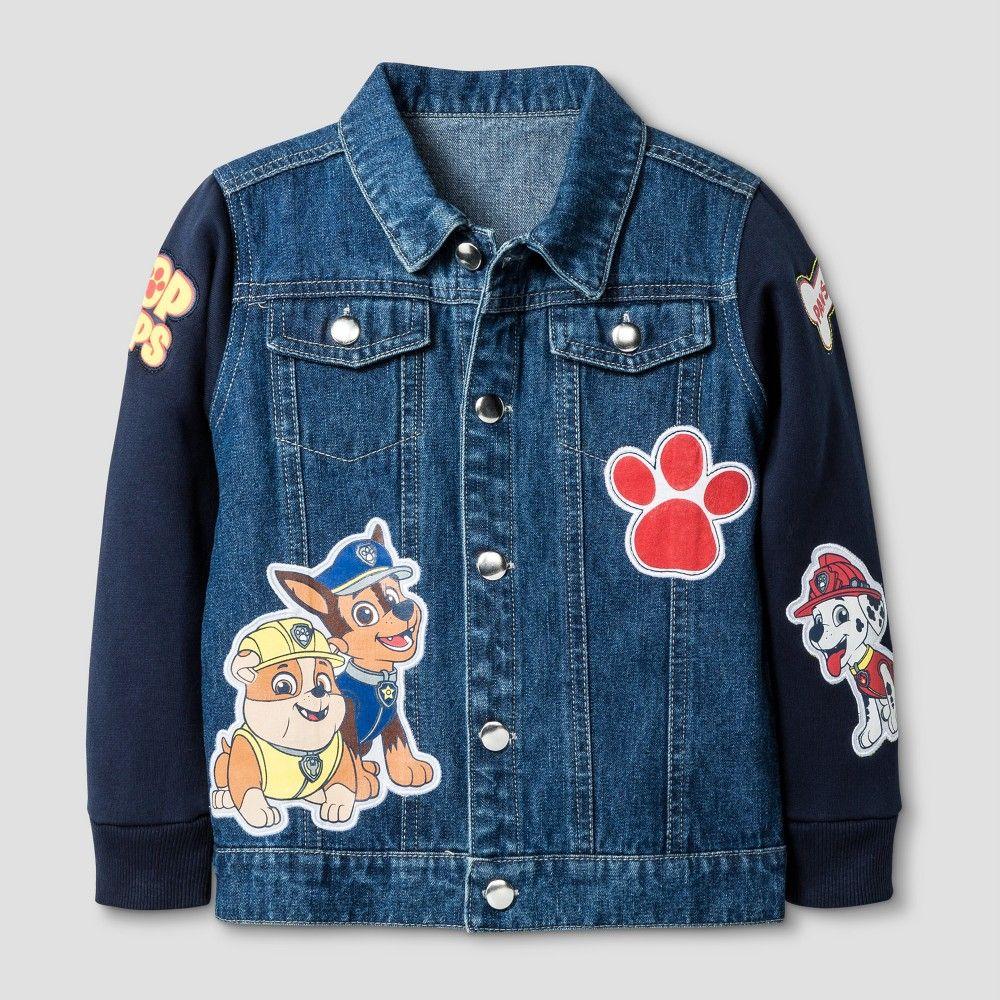 Paw Patrol Toddler Boys' Jean Jackets Blue 12M, Boy's