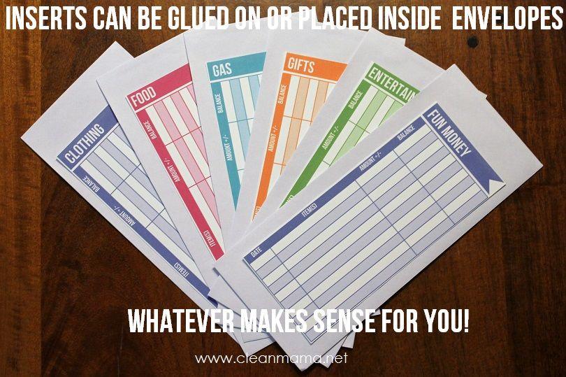 diy budget envelope inserts budget envelopes dave ramsey envelope