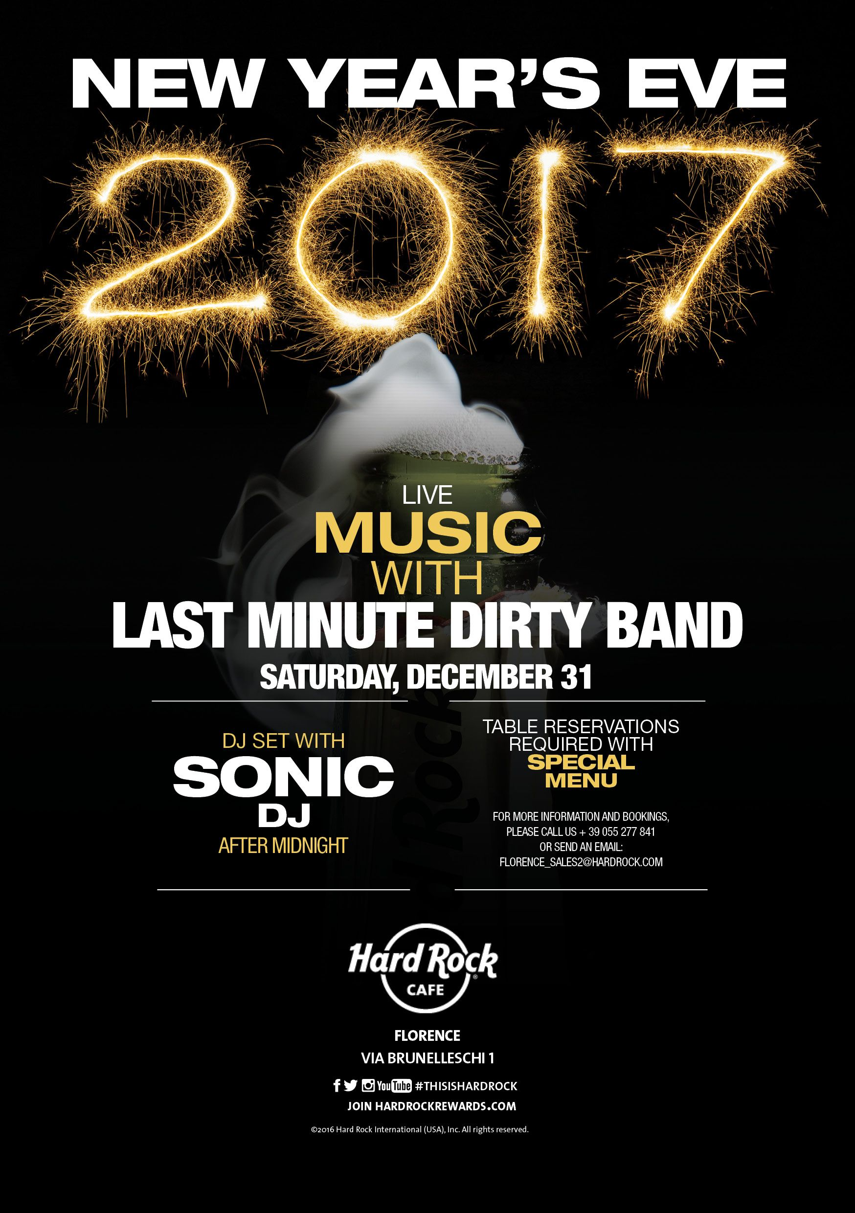 Set The Table Book Newyearseve 2017 At Hardrockcafeflorence Dinner Live Music And
