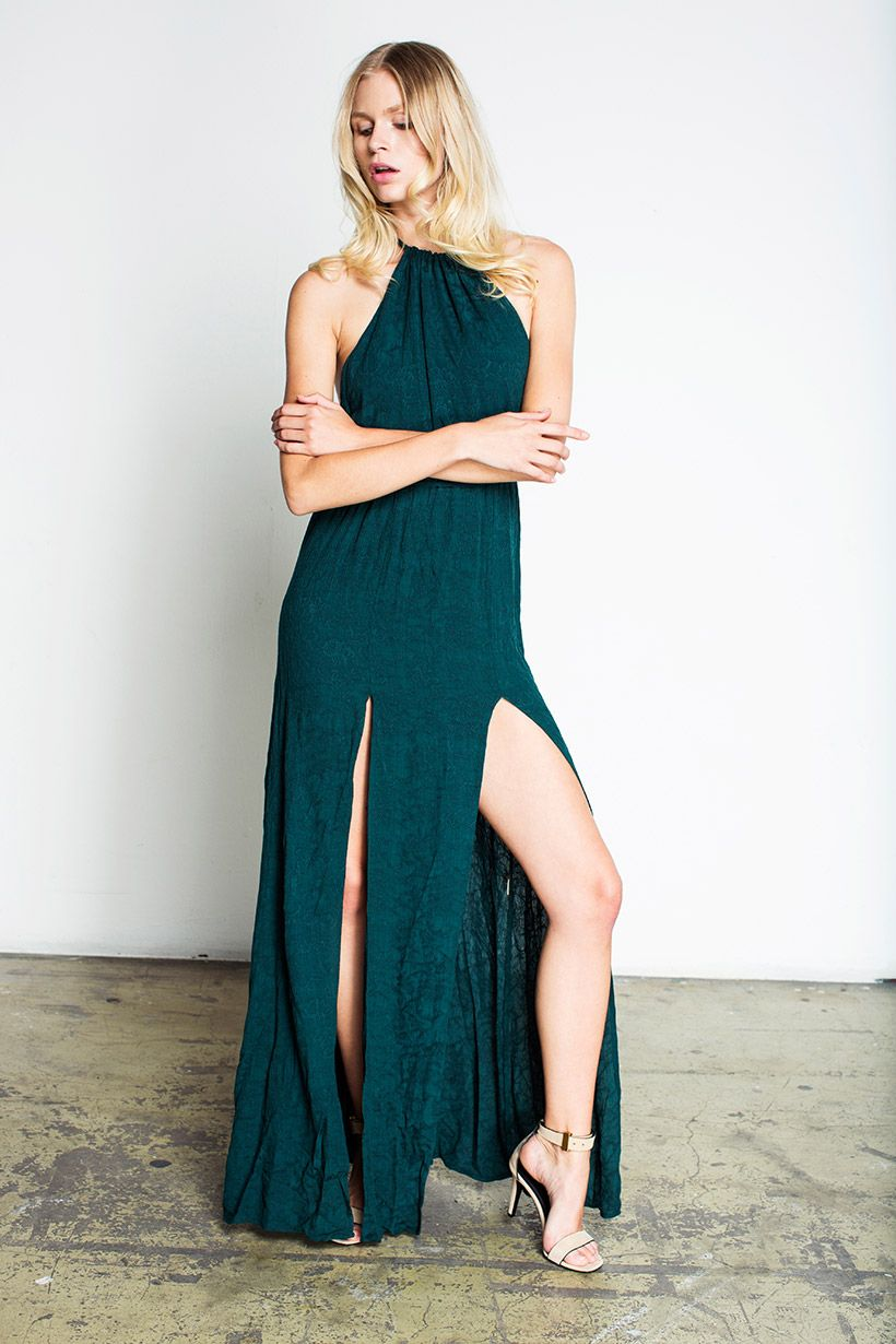 The classic #onyx gown is back in a limited edition #emerald Rayon ...